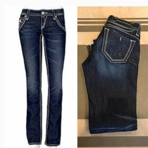 Amazing Rock Revival Adele Straight Jeans